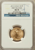 Modern Bullion Coins, 2013 $10 Quarter-Ounce Gold Eagle, First Releases MS70 NGC. NGCCensus: (0). PCGS Population (755)....
