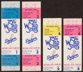 Baseball Collectibles:Tickets, 1978 World Series Full Tickets and Stubs Lot of 4 - Yankees OverDodgers....