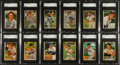 Baseball Cards:Lots, 1952 Bowman Baseball SGC Graded Collection (46) With Stars &HoFers. ...
