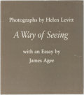 Books:Photography, [Photography] Helen Levitt, photographer. A Way of Seeing. Horizon Press, 1981. First printing of an enlarged ed...