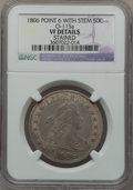 Early Half Dollars, 1806 50C Pointed 6, Stem, O-115a, R.2 -- Stained -- NGC Details.VF. NGC Census: (0/0). PCGS Population (1/2). ...