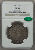 Bust Half Dollars: , 1821 50C AU53 NGC. CAC. NGC Census: (49/322). PCGS Population(61/263). Mintage: 1,305,797. Numismedia Wsl. Price for probl...