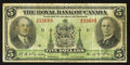 Canadian Currency: , Montreal, PQ- The Royal Bank of Canada $5 Jan. 2, 1935 Ch. # 630-18-02. ...