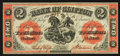Canadian Currency: , Clifton, PC- The Bank of Clifton $2 Sep. 1, 1861 Ch. # 125-12-10....