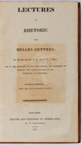 Books:Literature Pre-1900, Hugh Blair. Lectures on Rhetoric and Belles Lettres. GeorgeLong, 1817. Early edition. Engraved portrait of Hugh...