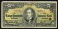 Canadian Currency: , Montreal, PQ- La Banque Provinciale Du Canada $5 Sep. 1, 1936 Ch. #615-18-02. ...