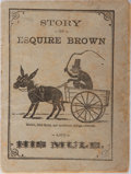 Books:Americana & American History, [Americana] Story of Esquire Brown and His Mule: TheNew-England Primer, Improved, or, An Easy and Pleasant ...