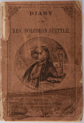 Books:Americana & American History, [Americana] [Anonymous]. Diary of the Rev. Solomon Spittle.William White, [n.d.]. Engraved illustrations. Publi...