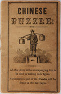 Books:Americana & American History, [Americana] [Anonymous]. Chinese Puzzles. No publisher ordate. 12 pages. Publisher's original printed wrappers....