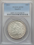 Bust Half Dollars: , 1811 50C Small 8 AU53 PCGS. PCGS Population (37/170). NGC Census:(0/0). ...
