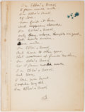 """Autographs:Celebrities, American Film Director Edward Sedgwick (1889-1953) and Wife'sVisitor's Autograph Book, Circa 1935-36. 6"""" x 9"""" blank book wi..."""