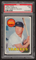Baseball Cards:Singles (1960-1969), 1969 Topps Mickey Mantle, Yellow Letters #500 PSA NM 7....