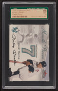 """Baseball Cards:Singles (1970-Now), 2000 Fleer Update """"Mantle Pieces"""" Jersey Swatch Card SGC 96 Mint 9...."""