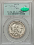 Commemorative Silver: , 1936 50C Gettysburg MS65 PCGS. CAC. PCGS Population (1583/741). NGCCensus: (1251/379). Mintage: 26,928. Numismedia Wsl. Pr...