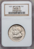 Commemorative Silver: , 1937 50C Antietam MS65 NGC. NGC Census: (975/902). PCGS Population(1528/1495). Mintage: 18,028. Numismedia Wsl. Price for ...