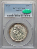 Commemorative Silver: , 1935 50C Boone MS66 PCGS. CAC. PCGS Population (209/39). NGCCensus: (166/24). Mintage: 10,000. Numismedia Wsl. Price for p...
