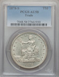 Trade Dollars: , 1878-S T$1 AU58 PCGS. PCGS Population (131/444). NGC Census:(130/405). Mintage: 4,162,000. Numismedia Wsl. Price for probl...