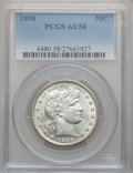 Barber Half Dollars: , 1898 50C AU58 PCGS. PCGS Population (24/159). NGC Census: (26/104).Mintage: 2,956,735. Numismedia Wsl. Price for problem f...
