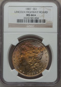 Morgan Dollars: , 1887 $1 MS66 ★ NGC. Ex: Lincoln Highway Hoard. NGC Census:(3687/319). PCGS Population (1426/...