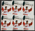 Hockey Collectibles:Photos, Steve Yzerman Signed Photographs Lot of 6....