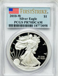 Modern Bullion Coins, 2010-W $1 Silver American Eagle, First Strike PR70 Deep Cameo PCGS.PCGS Population (15469). NGC Census: (21252)....