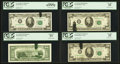 Error Notes:Ink Smears, Fr. 2072-B $20 1977 Federal Reserve Notes. Two Examples. PCGS VeryFine 25-Choice New 63PPQ; Fr. 2073-B $20 1981 Federal Reser...(Total: 4 notes)