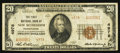 National Bank Notes:Pennsylvania, New Bethlehem, PA - $20 1929 Ty. 2 The First NB Ch. # 4978. ...