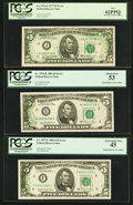 Fr. 1974-J $5 1977 Federal Reserve Note. PCGS New 62PPQ; Fr. 1976-B $5 1981 Federal Reserve Note. PCGS About Ne