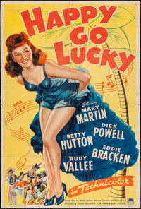 """Happy Go Lucky (Paramount, 1943). One Sheet (27"""" X 40.5""""). Musical"""