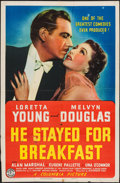"""Movie Posters:Comedy, He Stayed for Breakfast (Columbia, 1940). One Sheet (27"""" X 41""""). Comedy.. ..."""