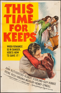 """This Time for Keeps (MGM, 1942). One Sheet (26.5"""" X 40"""") and Lobby Card Set of 8 and Lobby Card (11"""" X 14..."""