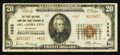 National Bank Notes:Oklahoma, Oklahoma City, OK - $20 1929 Ty. 2 The First NB & TC Ch. # 4862. ...