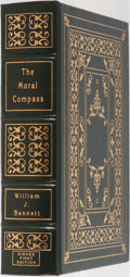Books:Biography & Memoir, William J. Bennett. LIMITED/SIGNED. The Moral Compass. Storiesof a Life's Journey. Easton Press, 1995. First ed...