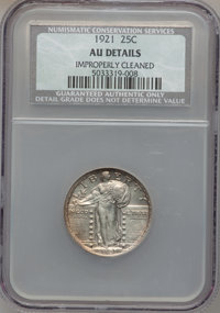 1921 25C -- Improperly Cleaned -- NCS. AU Details. NGC Census: (11/422). PCGS Population (39/582). Mintage: 1,916,000. N...