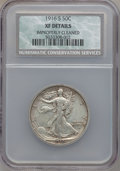Walking Liberty Half Dollars: , 1916-S 50C -- Improperly Cleaned -- NCS. XF Details. NGC Census:(3/487). PCGS Population (18/797). Mintage: 508,000. Numis...