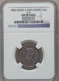 Half Cents, 1804 1/2 C Crosslet 4, Stems, C-9, B-8, R.2, -- Burnished -- NGCDetails. AU. NGC Census: (0/0). PCGS Population (0/0)....