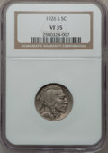 Buffalo Nickels: , 1926-S 5C VF35 NGC. NGC Census: (88/457). PCGS Population (96/599).Mintage: 970,000. Numismedia Wsl. Price for problem fre...