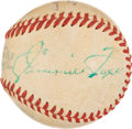 Autographs:Baseballs, 1960 Jimmie Foxx Single Signed Mini Baseball....
