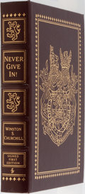 Books:Non-fiction, [Winston Churchill] Winston S. Churchill, editor. LIMITED/SIGNED.Never Give In! The Best of Winston Churchill's Speeche...