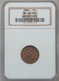 Indian Cents: , 1884 1C MS65 Red and Brown NGC. NGC Census: (110/28). PCGSPopulation (72/4). Mintage: 23,261,742. Numismedia Wsl. Price fo...