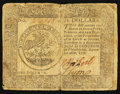 Colonial Notes:Continental Congress Issues, Continental Currency September 26, 1778 $5 Fine.. ...