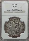 Morgan Dollars: , 1895-O $1 VF20 NGC. NGC Census: (96/3758). PCGS Population(206/4032). Mintage: 450,000. Numismedia Wsl. Price for problem ...