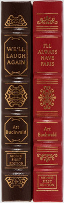 Art Buchwald. Two LIMITED/SIGNED Easton Press Editions including: We'll Laugh Again. Easton Pre