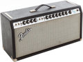 Musical Instruments:Amplifiers, PA, & Effects, 1972 Fender Dual Showman Black Guitar Amplifier Head. ...