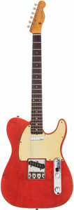 Musical Instruments:Electric Guitars, 1960 Fender Telecaster Custom Red Solid Body Electric Guitar,Serial # 48404....