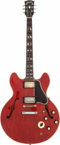 Musical Instruments:Electric Guitars, 1966 Gibson ES-345 Cherry Semi-Hollow Body Electric Guitar, Serial# 811307....