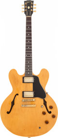 Musical Instruments:Electric Guitars, 1982 Gibson ES-335 Natural Semi-Hollow Body Electric Guitar, Serial# 82292507....