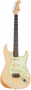 Musical Instruments:Electric Guitars, 1962 Fender Stratocaster Blonde Solid Body Electric Guitar, Serial# L 75286. ...