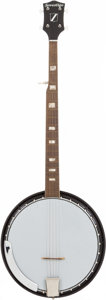 Musical Instruments:Banjos, Mandolins, & Ukes, 1970's Sovereign 5-String Black Banjo....