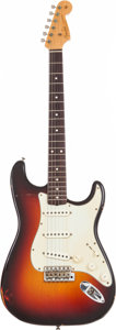Musical Instruments:Electric Guitars, 1997 Fender Custom Shop Relic Stratocaster Sunburst Solid Body Electric Guitar, Serial # R 3640.. ...